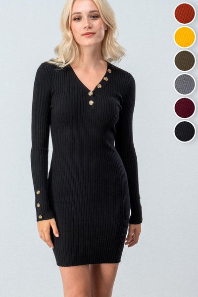 "Black ""Sexy Sleeve"" Bodycon Dress"