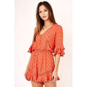 Orange Blossom Romper (Cloud Walk) - New2Youlx