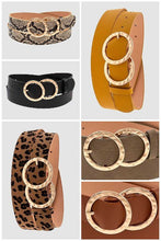 Load image into Gallery viewer, Wide Double Ring Buckle Fashion Belt