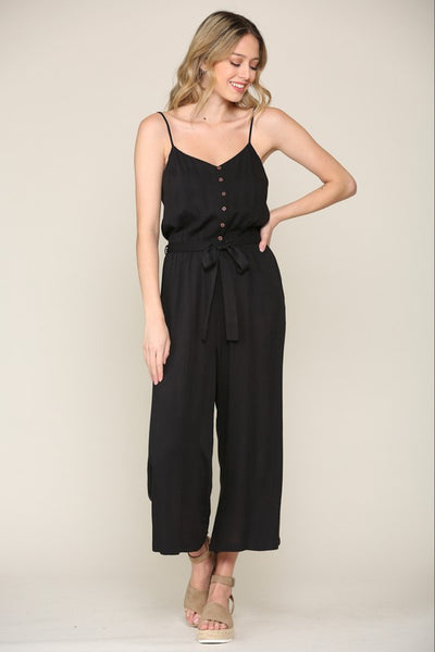 Lovely & Cool Self-Tie Jumpsuit (Multi-sizes avail)