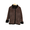 Gallery Brown Suede Faux Fur Coat
