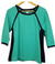 Liz Claiborne Teal/Black Blouse