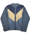 Designer Studio Patch Work Suede Sweater