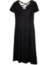Jean Paul Black Button Down Dress