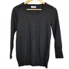 Black Wool Key Sweater