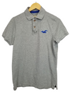 Hollister Grey White Button Polo