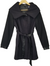 Nicole Black/Purple Pinstripe Peacoat