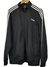 Adidas Classic Black Three Stripe Track Jacket