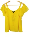 Shift Yellow Cold Shoulder Blouse