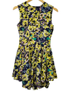 H&M Yellow Printed A-Line Dress