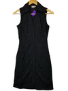 Georgiou Black Embroidered Apron Dress