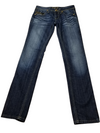 Rerock By Express Dark Wash Gold Stitch Jeans