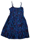 Express Blue Printed Slip Dress