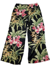 Tommy Bahama Floral Tropical Pink and Green Flowy Pants