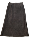 Sienna Studio Brown Suede Full Skirt