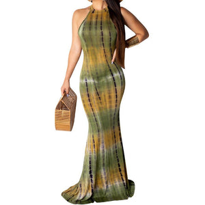 Multi Colored Animal Print Maxi Dress (Showa)