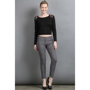 Classic Five Pocket Millennium Skinny Ankle Pants - New2You LX
