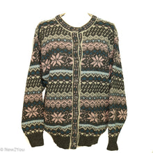 Load image into Gallery viewer, Vintage Wool Nordic Style Button-Up Sweater