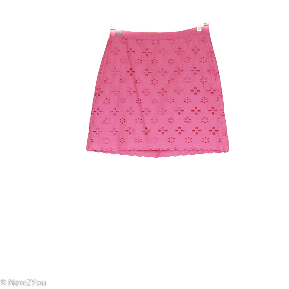 Bubblegum Pink Waist Pleated Skirt (Ann Taylor) - New2You Lx