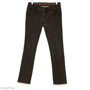 Black Faded Wash Skinny Jean (Rock Revival) - New2You LX