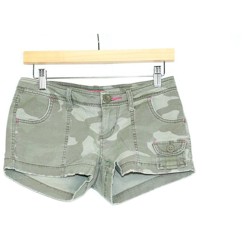 Green Army Trendy Shorts (Arizona Jean Co.) - New2Youlx