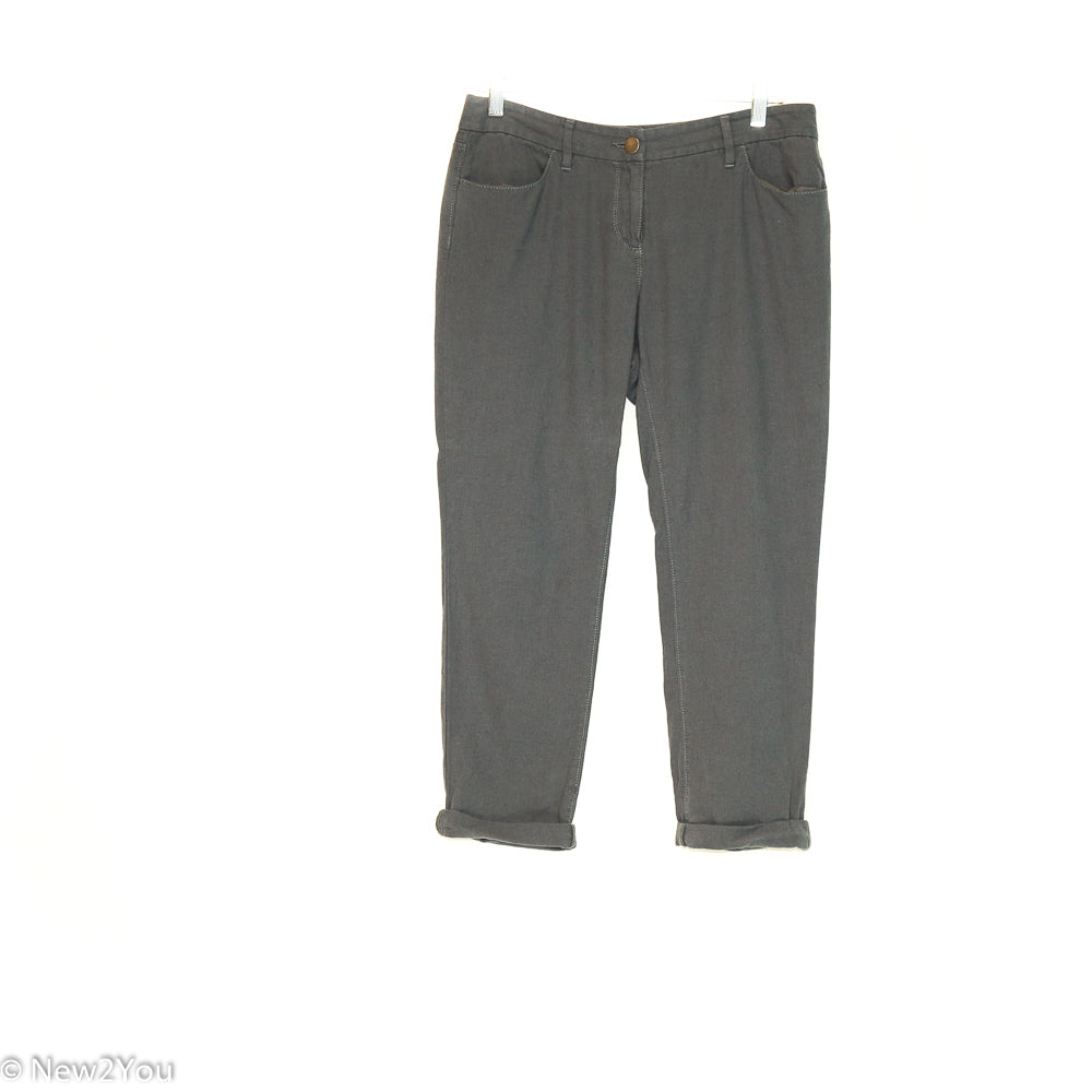 Charcoal Linen Pants (Ann Taylor) - New2You LX