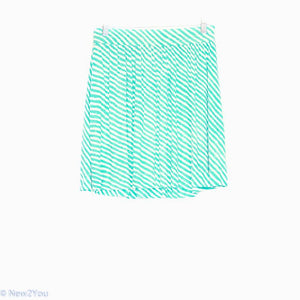 Aqua&Cream Striped Bell Skirt (Ann Taylor) - New2You Lx