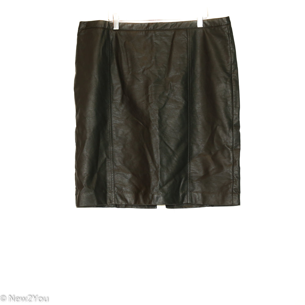 Faux Leather Mini Skirt (Worthington) - New2Youlx