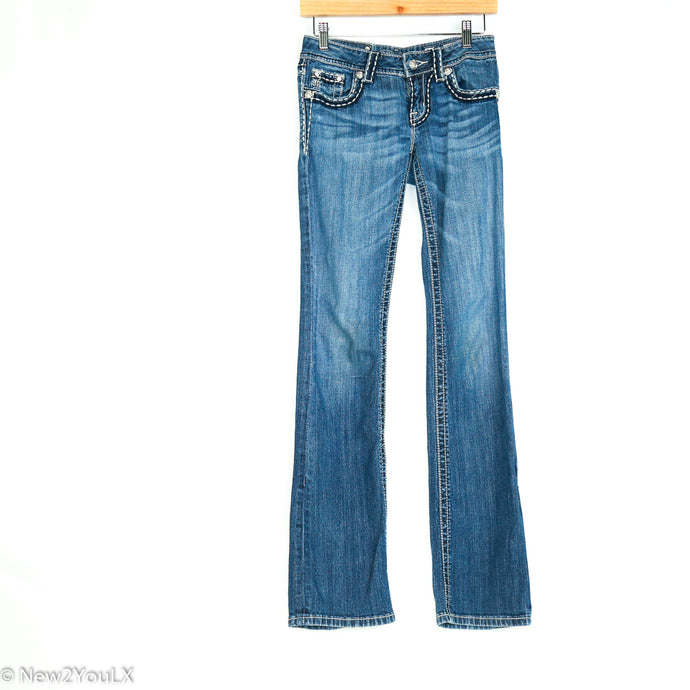 Light Wash Bootcut Jeans (Miss Me) - New2Youlx