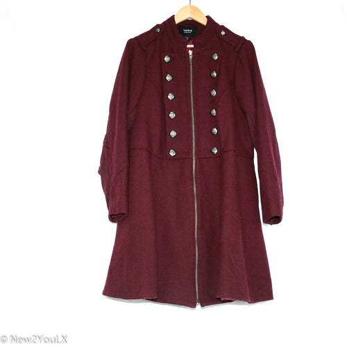 Burgandy Military Jacket