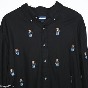 Black Teddy Button Up (Ralph Lauren) - New2You Lx
