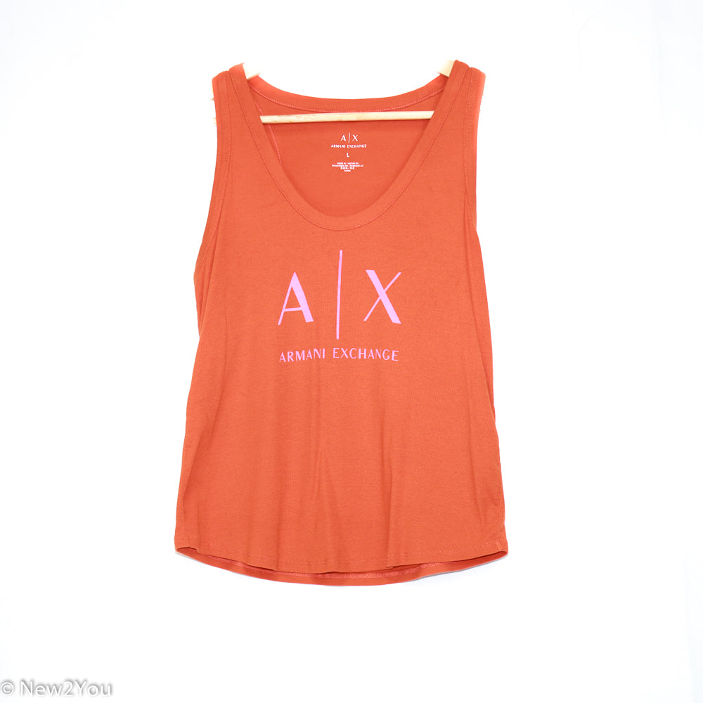 Rust Graphic Tank Top (Armani Exchange) - New2Youlx