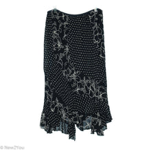 Load image into Gallery viewer, Black Floral & Polka Dot Flowy Skirt (Starina) - New2You LX