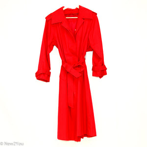 Red Trenchcoat (Bryant Park) - New2Youlx