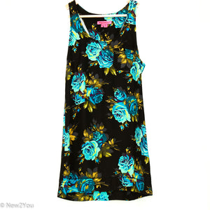 Black Floral Print Tank Top(Betsey Johnson) - New2You Lx