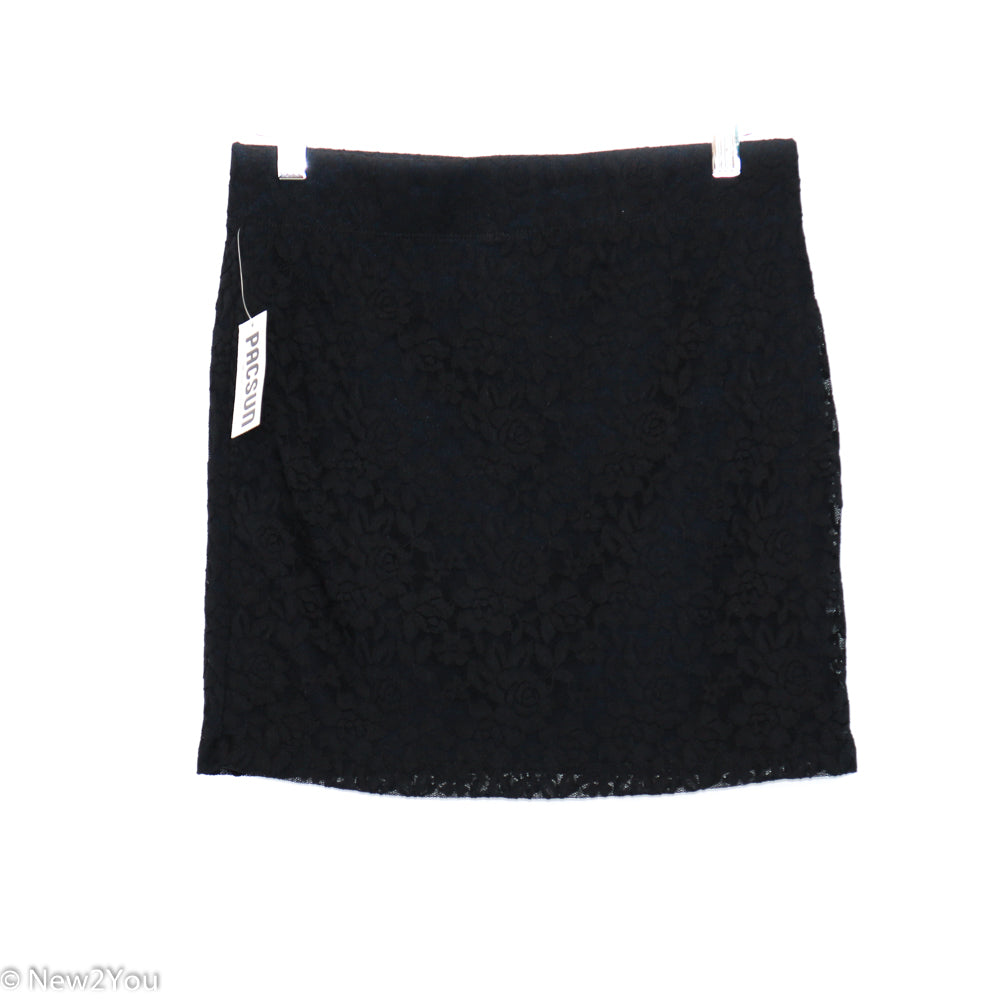 Black Lace Mini Skirt (PacSun) - New2You LX