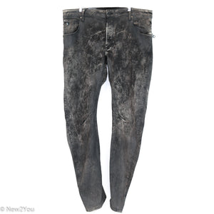 Charcoal Acid Wash Jeans (Raw) - New2You LX
