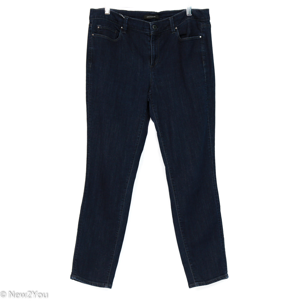 Traditional Dark Blue Jeans (Ann Taylor) - New2Youlx