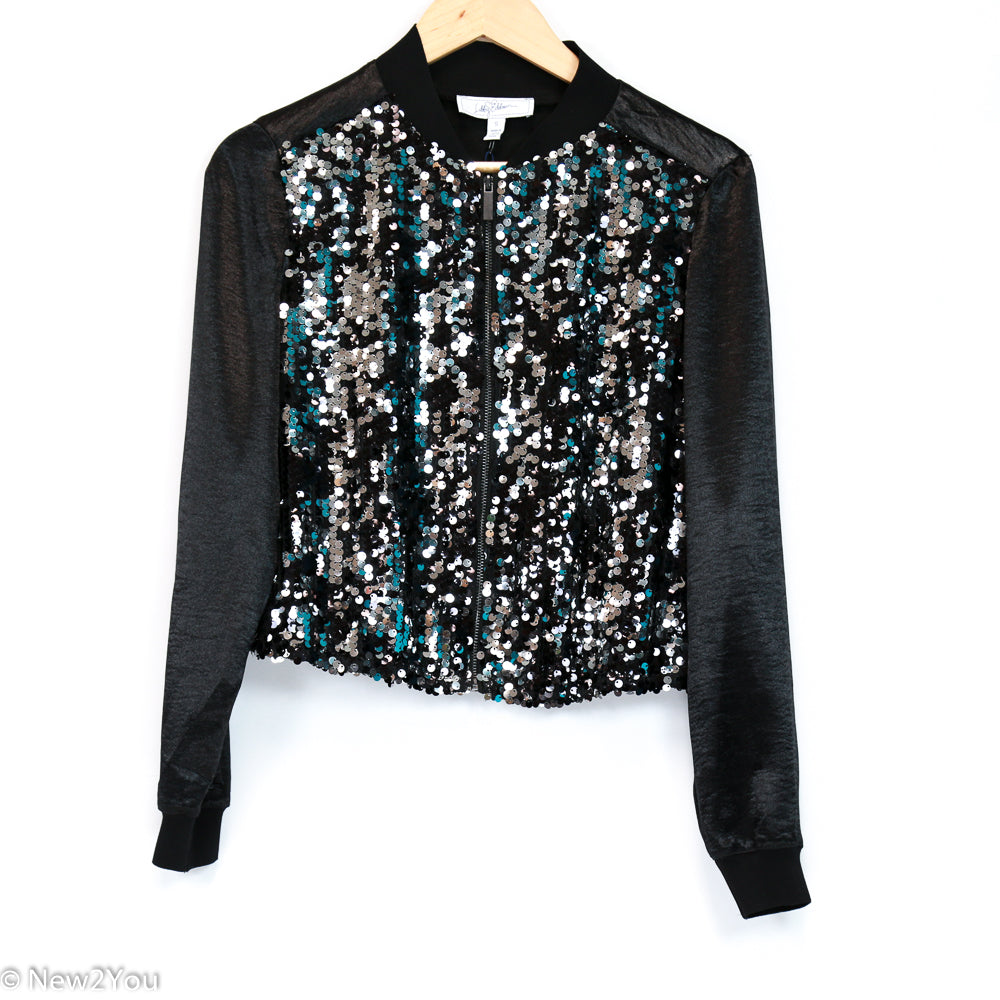 Dark Platinum Sequence Jacket (Libby Edelman) - New2You Lx