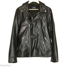 Load image into Gallery viewer, Black Leather Biker Jacket (LAMARQUE) - New2You LX