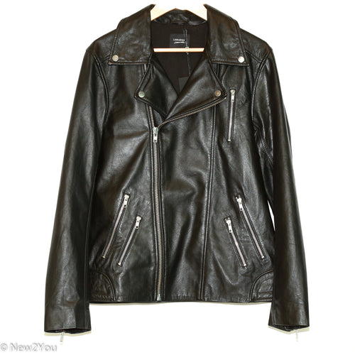 Black Leather Biker Jacket (LAMARQUE) - New2You LX
