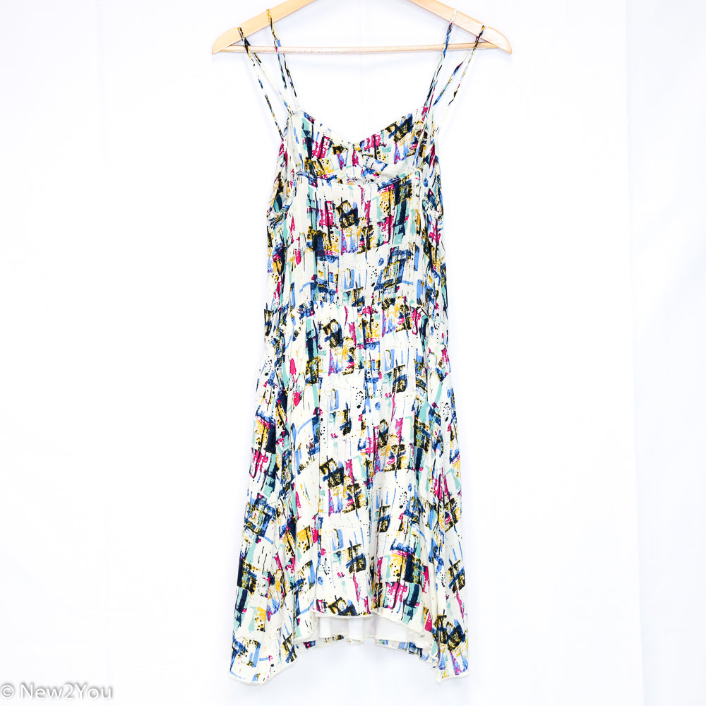 White Abstract Summer Dress (Ellus)