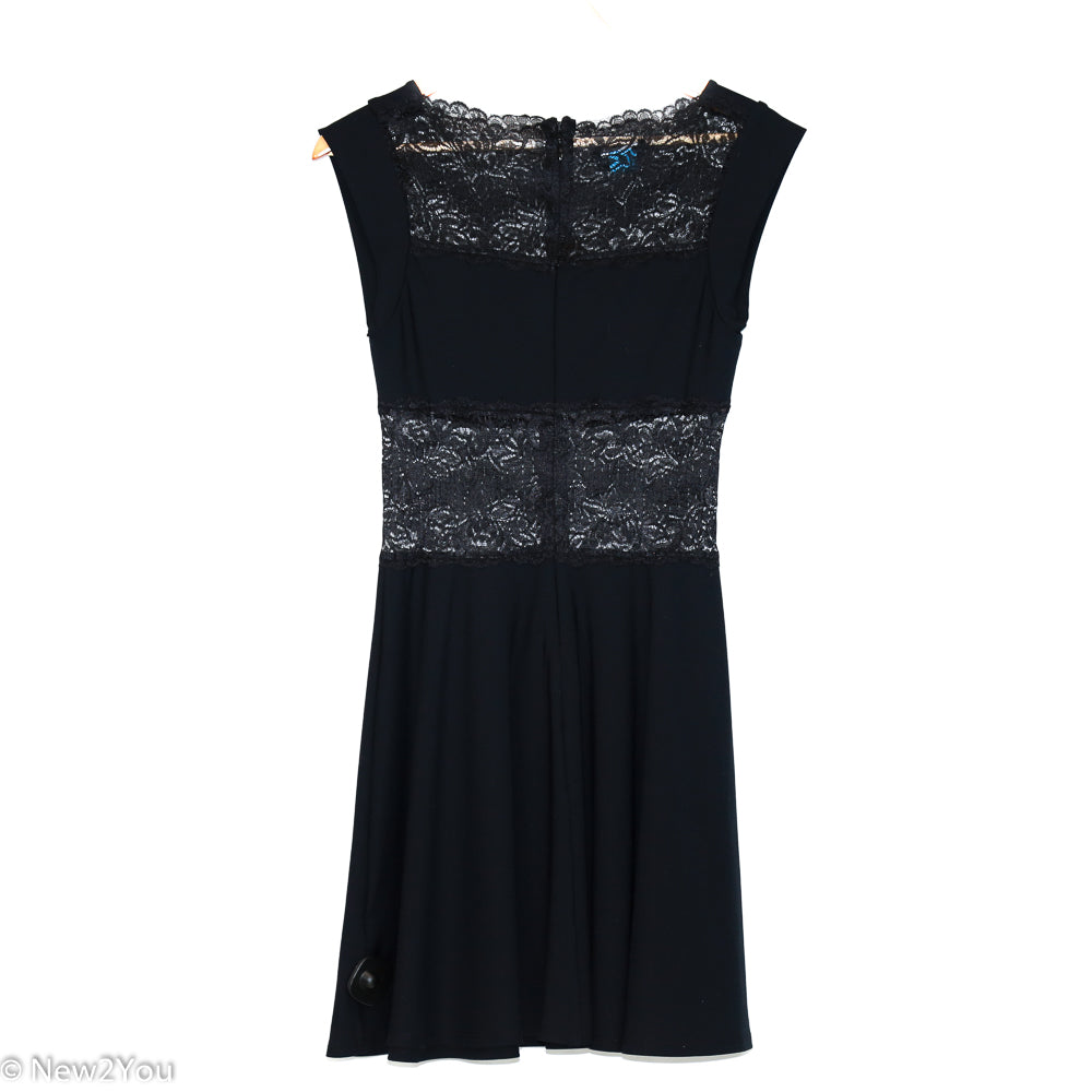 Black Lace Dress (Bebe) - New2You LX