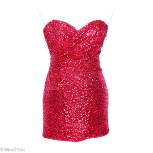 Fuchsia Sequence Dress (La Femme) - New2Youlx