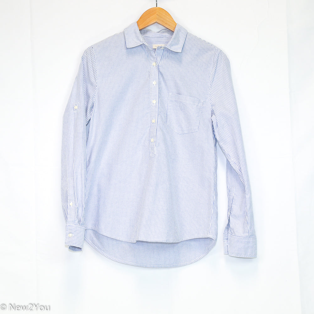 Pinstriped Button Up (J. Crew) - New2Youlx