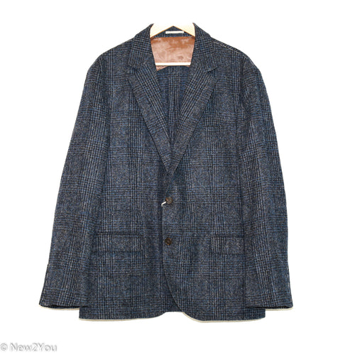 Navy Plaid Suit Jacket (Brunello Cucinelli)