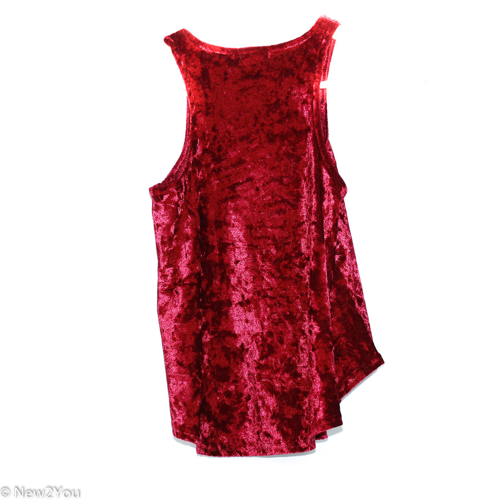 Wine Velour Tank Top (Rue21) - New2Youlx