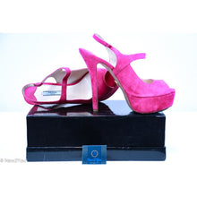 Load image into Gallery viewer, Fuchsia Peep-Toe High Heel (Prada)