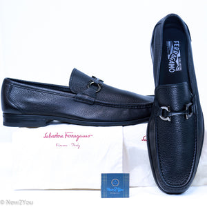 Men'S Black Leather Loafers (Salvatore Ferragamo )