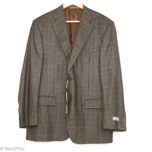 Brown Plaid Blazer (Canali) - New2You LX